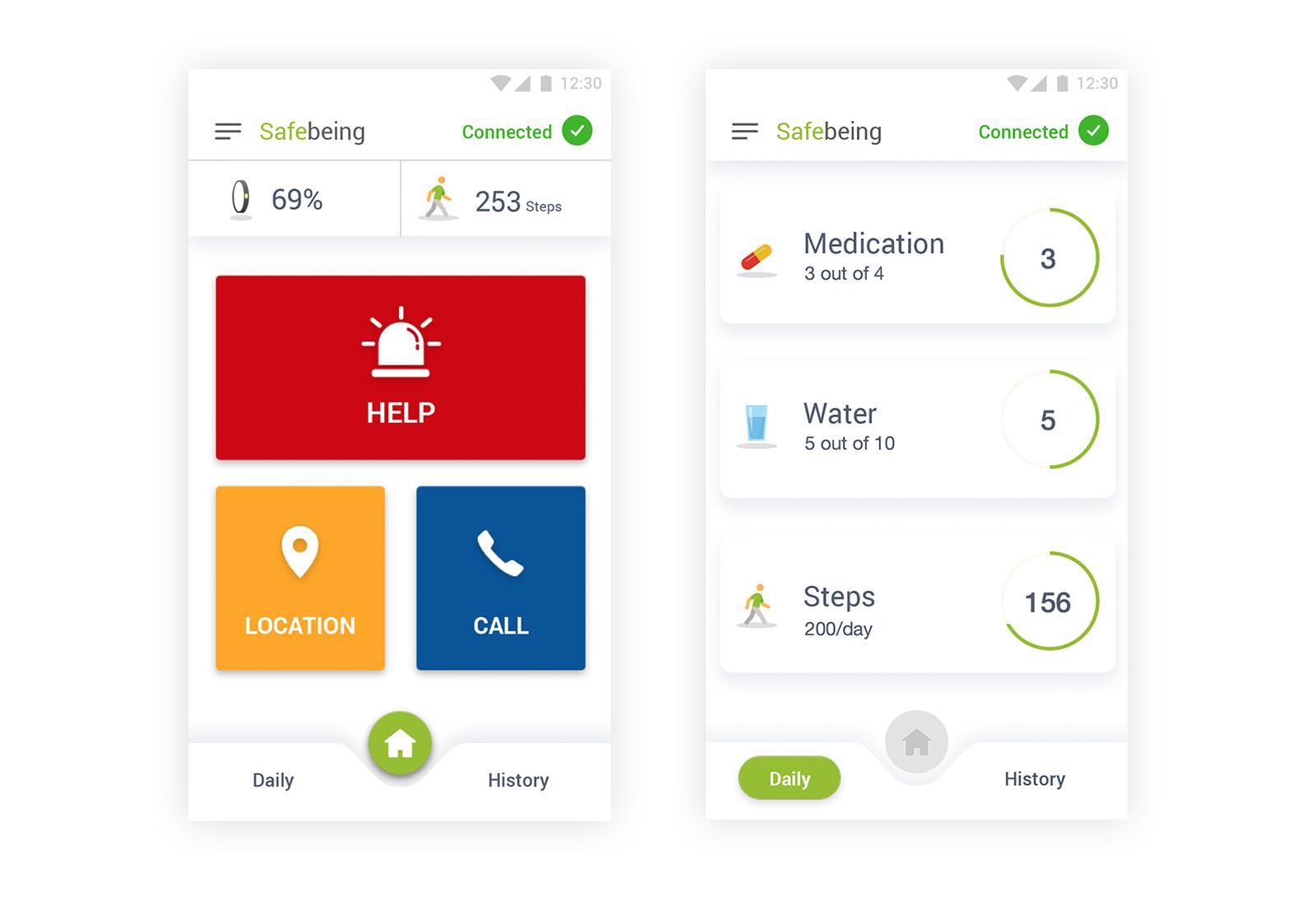 Somatix SafeBeing App